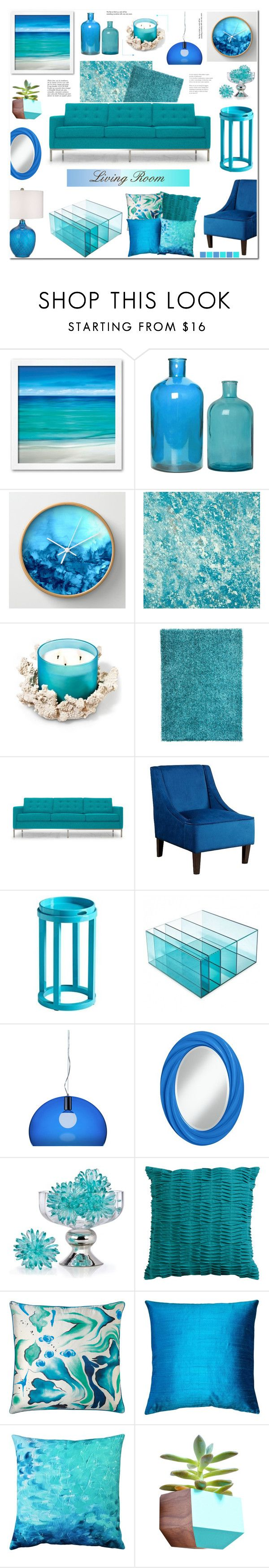 """Living Room"" by anyasdesigns ❤ liked on Polyvore featuring interior, interiors, interior design, home, home decor, interior decorating, Designers Guild, Dot & Bo, Joybird Furniture and Abbyson Living"