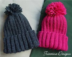Chapéu de neve para criança padrão por Tricotine