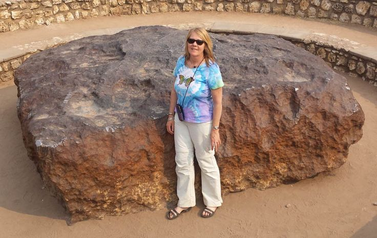 Robin at the Hoba Meteorite