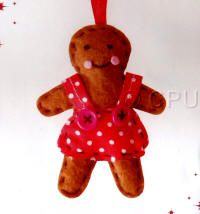 DoCrafts Mini Soft Christmas Kits - Gingerbread Lady.  Perfect for making your own Xmas Tree Decorations.