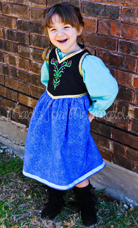 Anna Frozen everyday princess PDF Pattern instant download 2 years-8 years