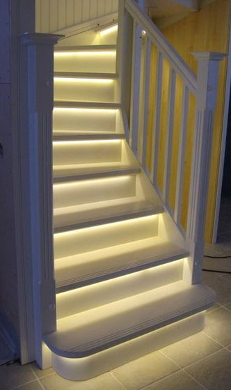 Motion-sensitive lighted staircase