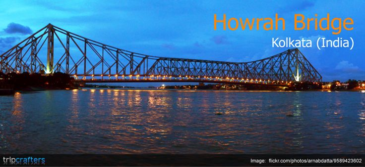 Howrah Bridge in Kolkata is the largest cantilever bridge in India. It is also easily the busiest cantilever bridge in the world, carrying a daily traffic of approximately 100,000 vehicles and possibly more than 150,000 pedestrians. | #India