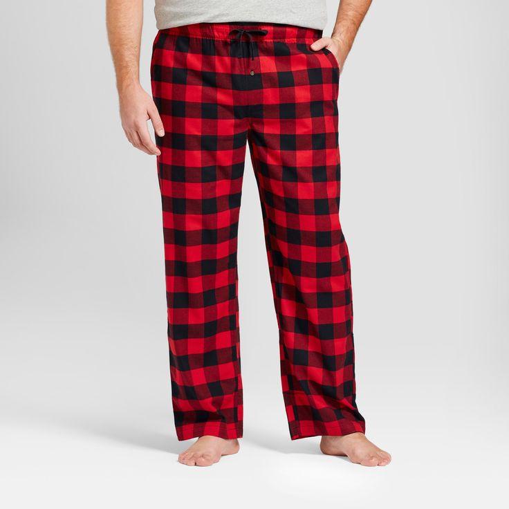 Men's Big & Tall Woven Flannel Pajama Pants - Goodfellow & Co Red Xxlt, Size: Xxl Tall