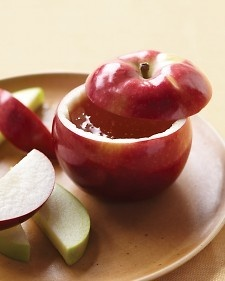 Rosh Hashana - apples and honey to celebrate the sweetness of the coming new year!---- I love the hollowed out apple honey bowl!!