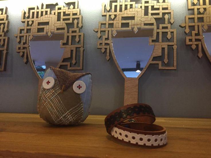 Discover more hosting items at B38! Owl by Psarokokalo creative studio, bracelets by SKINNY LEGS by Kleo Xirou and Medusa mirror by Mirella Manta!