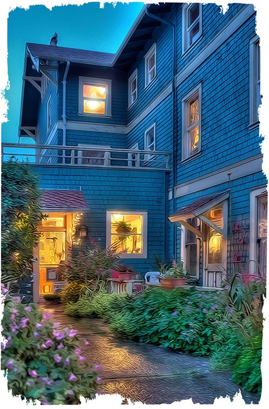 """The Sylvia Beach Hotel in Oregon.  Each room has a literature or author """"theme"""" with books in it.  There's a library and community meals.  It's also on the beach.  I MUST go here someday."""