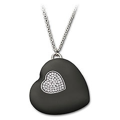 USB Heart Black, Crystal. A Birthday gift!