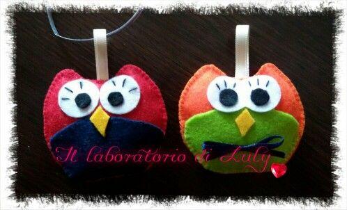 Portachiavi gufosi!  #creative #feltro #artigianale #pannolenci #fattoamanoconamore #fattoamano #gufetto #owl #creativemamy #portachiavi