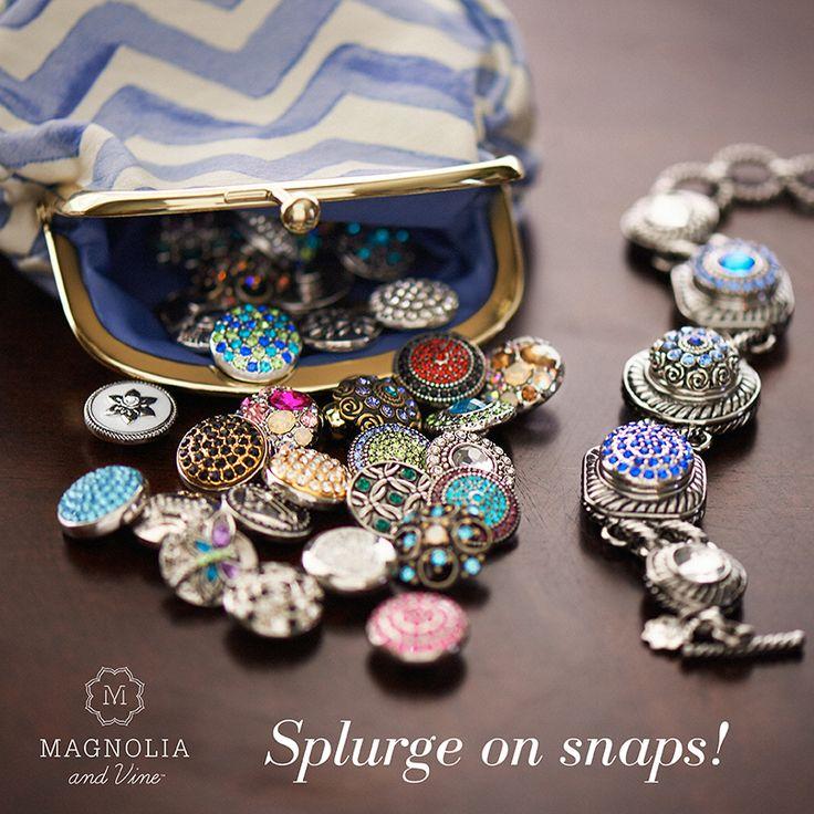 Splurge on snaps from Magnolia and Vine! Shop Now: mymagnoliaandvine.com/Katarina