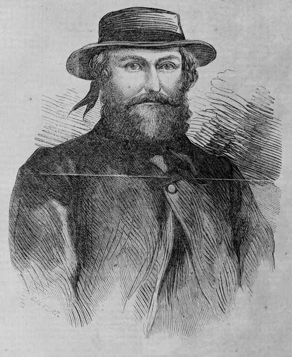 Ben Hall. A famous Australian bushranger and tough guy with quite a fetching ribbon on his straw hat.
