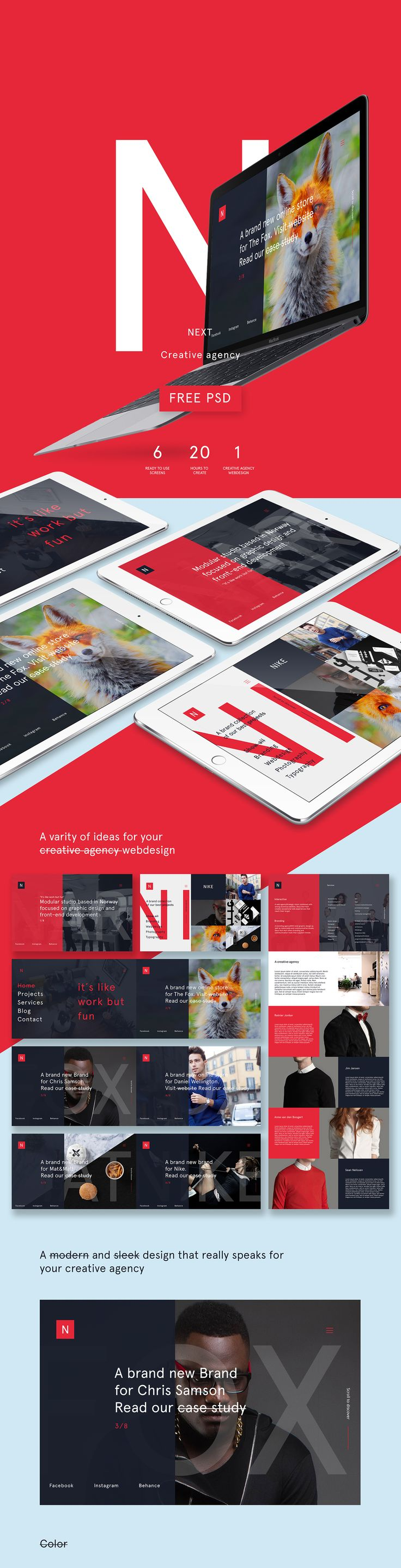 NEXT creative agency - Free PSD TemplateI do not own any of the picturesThanks to Agency No9 for Team picturehttp://no9.com
