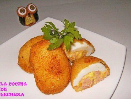 Huevos Rellenos con Bechamel Te enseñamos a cocinar recetas fáciles cómo la receta de Huevos Rellenos con Bechamel y muchas otras recetas de cocina..