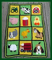 Farm Blanket Pattern.  Entire pattern or individual blocks for purchase.  Knot Your Nana's Crochet