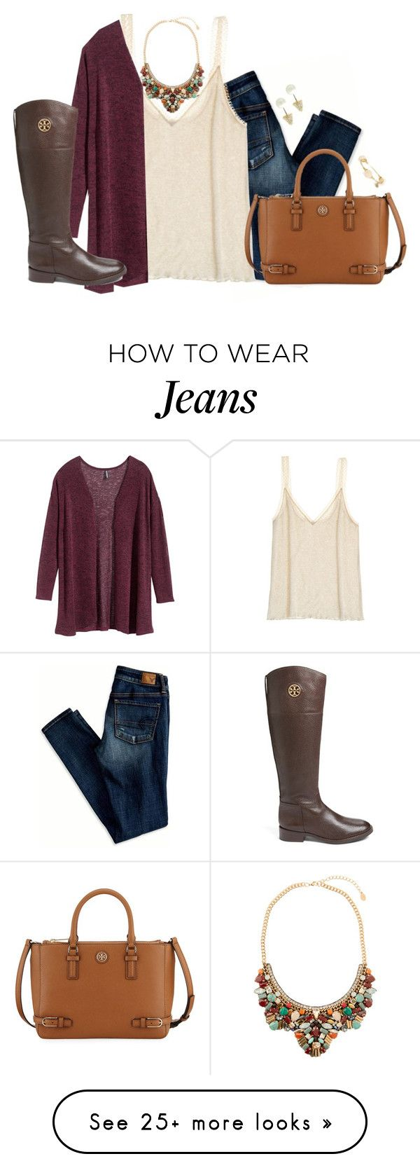 """↬ move f o w a r d ↫"" by kaley-ii on Polyvore featuring moda, American Eagle Outfitters, Calypso St. Barth, H&M, Accessorize, Tory Burch, Bourbon and Boweties e CC SKYE"