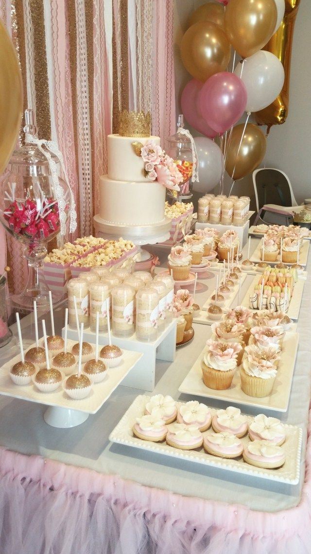 20 Great Image Of Birthday Cake Table Decoration Ideas In 2020 Gold Birthday Party Sweet 16 Birthday Party Pink And Gold Birthday Party