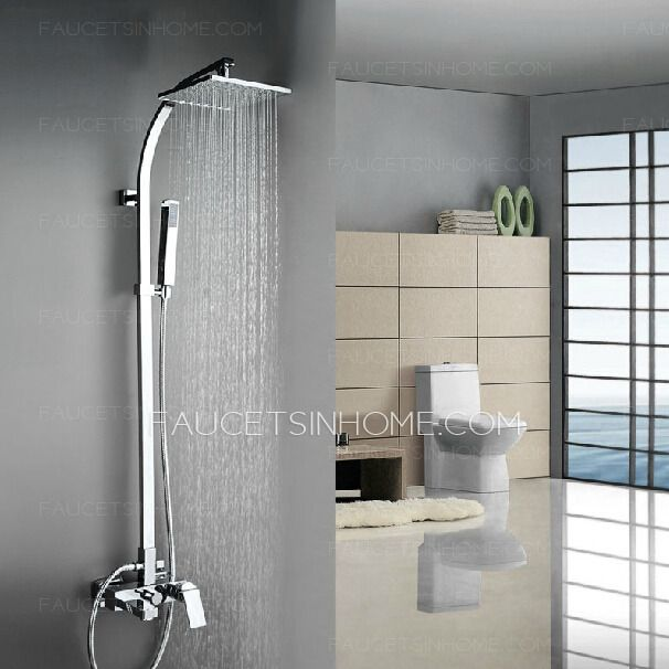 Best Square Shaped Brass Bathroom Shower Faucets System