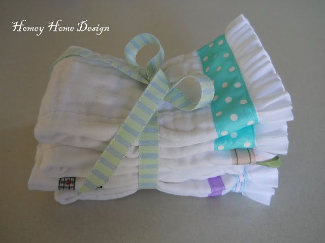 A simple tutorial for how to make burp cloths out of diapers