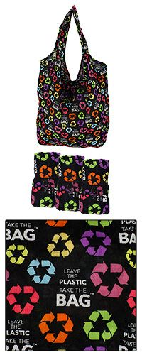 Leave the Plastic Cotton Shopping Bags - Set of 3 at The Autism Site