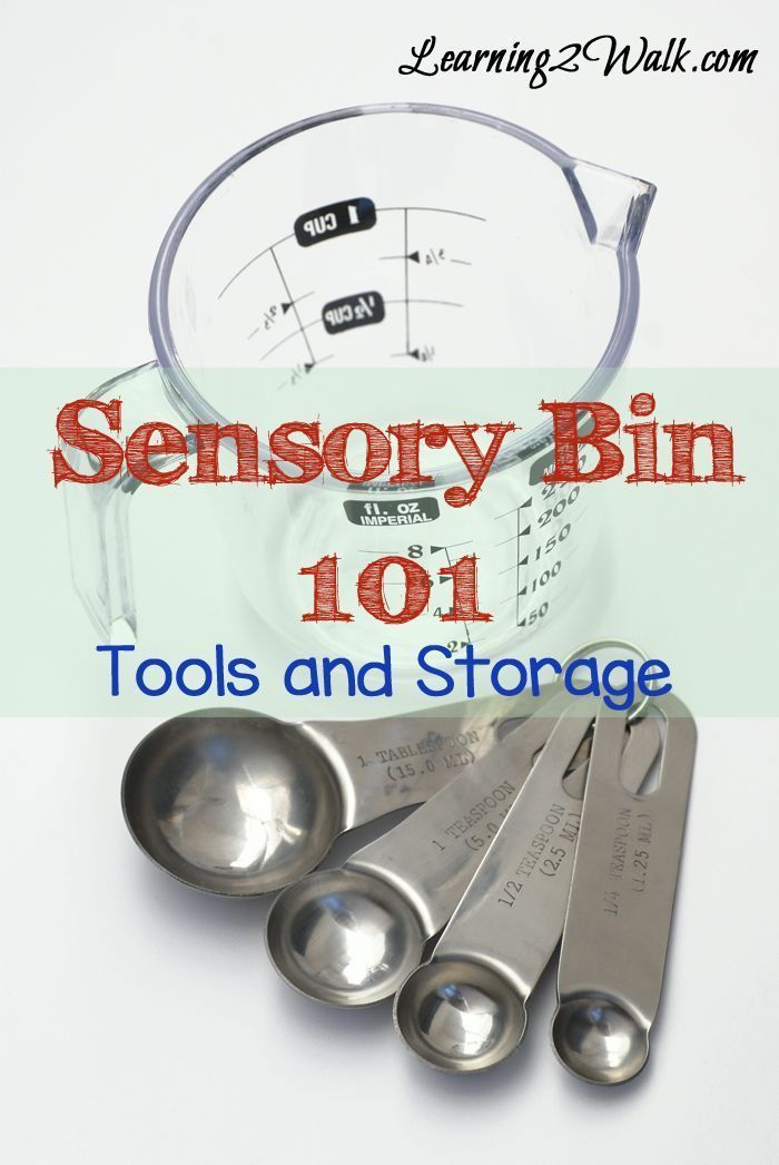 preschool sensory activities- sensory bin 101 tools and storage