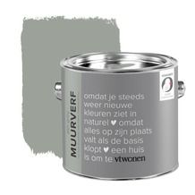 vtwonen krijt mat muurverf ash grey 2,5 l