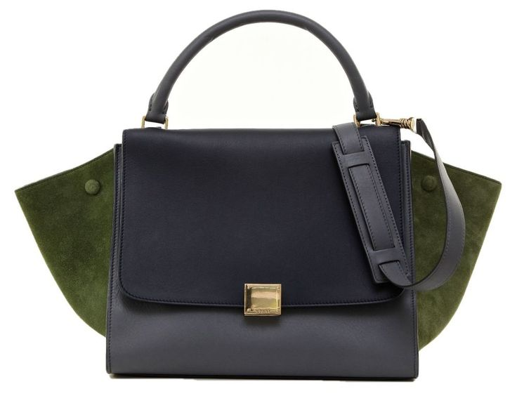 Celine Trapeze Leather Suede Tri-Color Grey Green Tote Bag Satchel DoPEEK! #Celine #Tote Shop www.evesher.com #bag #handbag #ysl#saintlaurent #black #structured#tote #minimal #navy #versace#gianni #belt #fashion #style#women #belts #black #gold#blackandgold #details #ootd#lanvin #gucci #dvf #designer#ootd #ootn #lookbook #people#consignment #nordstrom #saks#shop #online #TotesShoppers #store#accessories #vogue #glamour#trend #trendy #beauty #fierce