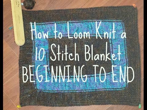 10 Stitch Blanket BEGINNING TO END with DIAGRAM - YouTube