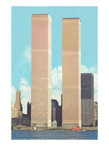 world trade towers | World Trade Center Towers, New York City Prints at AllPosters.com