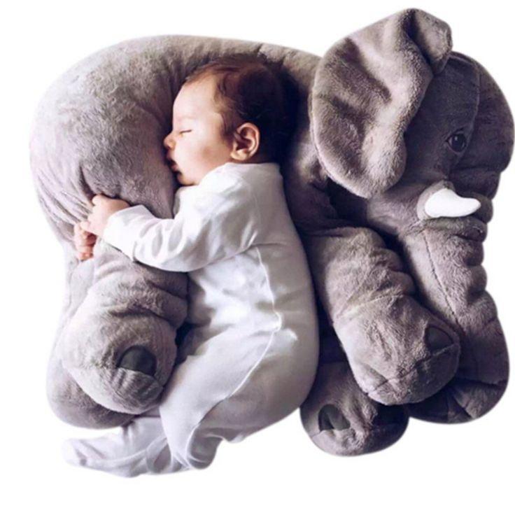J&L cuscino Elefante ambientale sveglio dell'elefante animale Cuscino giocattolo del bambino dei capretti dei bambini del bambino della novità morbido peluche per la decorazione, i regali per i bambini peluche giocattoli bambino placare cotone 100%: Amazon.it: Giochi e giocattoli