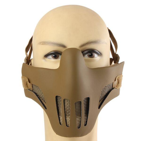 Tactical Airsoft War Game Half Face Metal Net Mesh Protective Mask