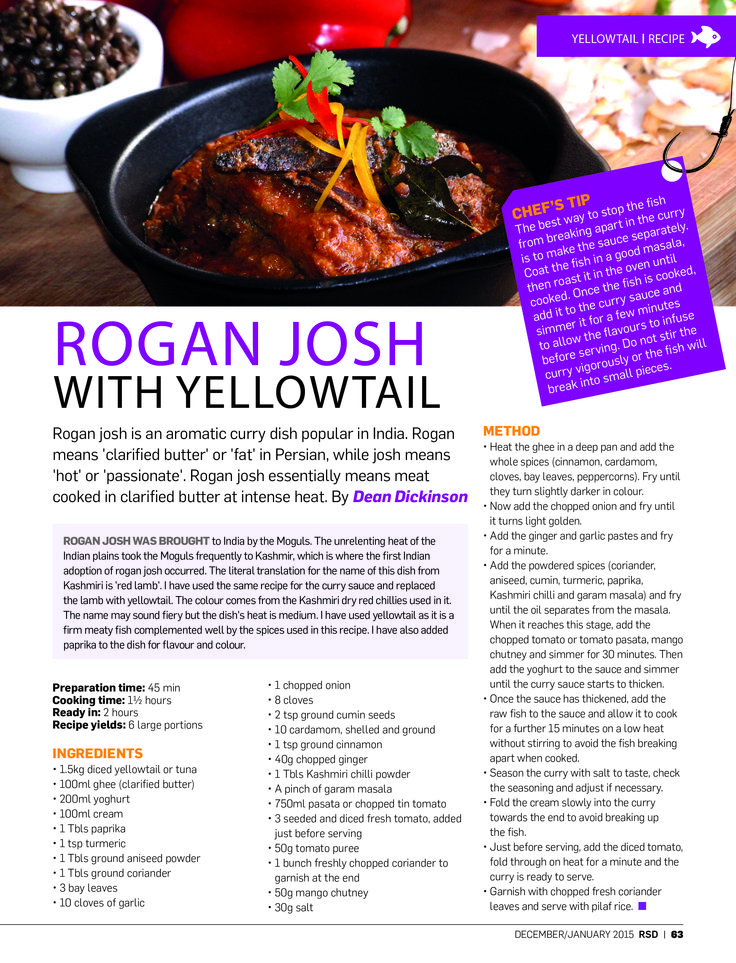 We're taking a look back at 2014 – a truly great year of #RSD! We finished off 2014 and welcomed 2015 with this yellowtail rogan josh recipe and it really was an awesome way to start the festive season with #RSD!