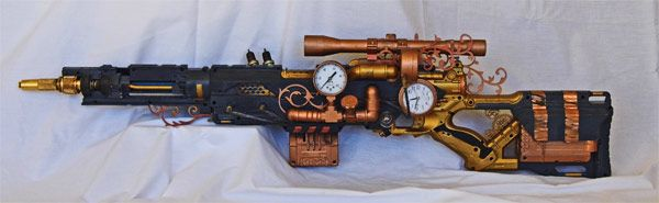 """Nerd?...No, """"Aesthetically-Challenged"""" — Steampunk Nerf Sniper Rifle….WOW. This thing looks..."""