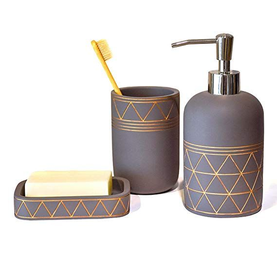 Bathroom Set Bathroom Accessories 3 Pieces Bathroom Soap Dispenser Toothbrush Holder Soap Di Soap Dispenser Bathroom Soap Dispenser Bathroom Accessories Sets