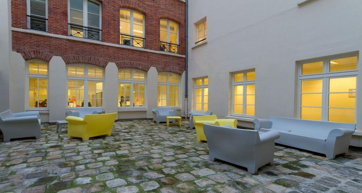 Terrace into the premises of Valtech in Paris, France