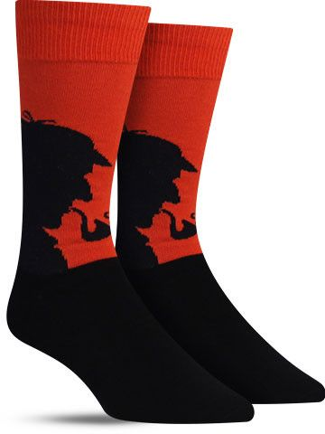 Sherlock Holmes has been portrayed for entertainment consistently for more than 100 years, although we can guarantee these fun socks are much fresher than that. Break out the deerstalker hat and your