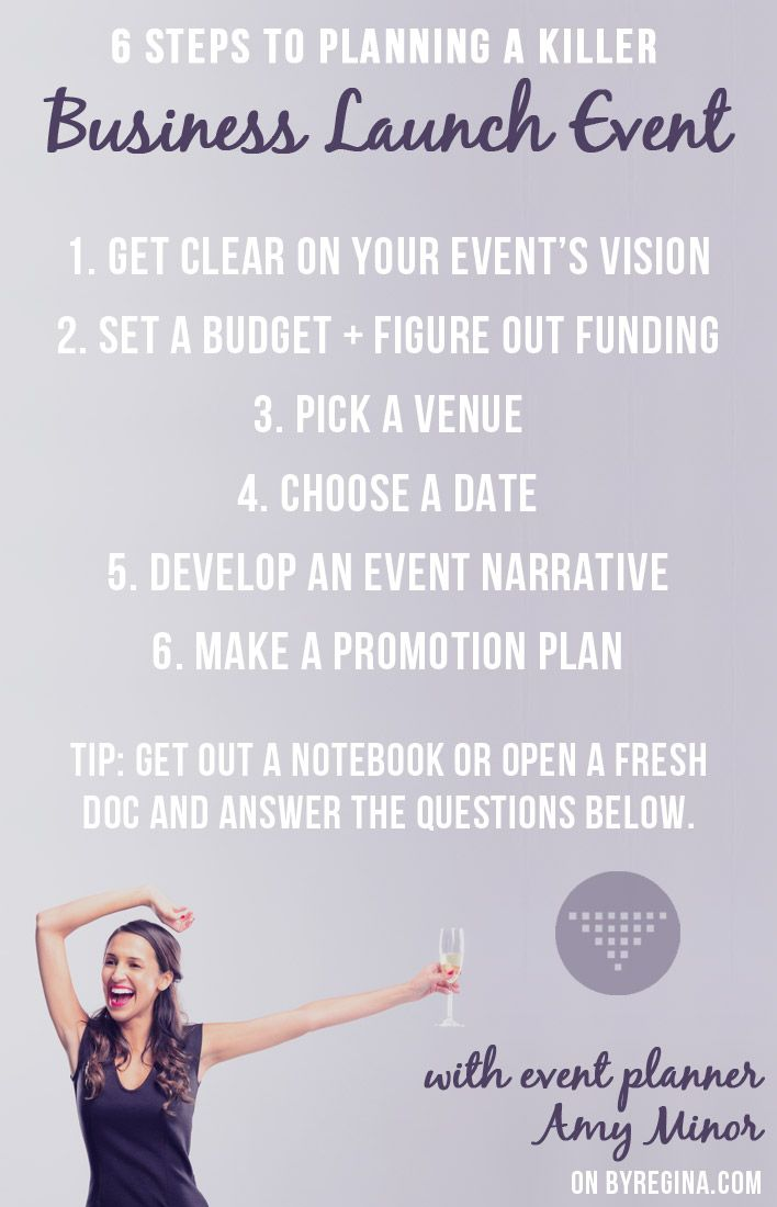 Steps to Planning a Business Launch Event