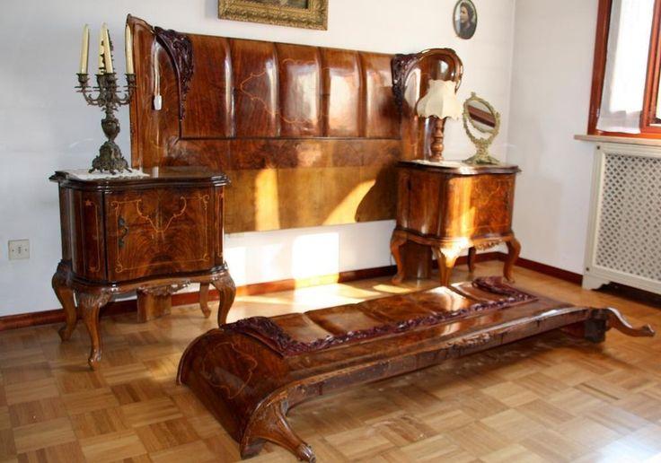 #chippendale #bedroom #bed #nightstands #dresser #wardrobe #cameradaletto #letto #comodini #comò #armadio