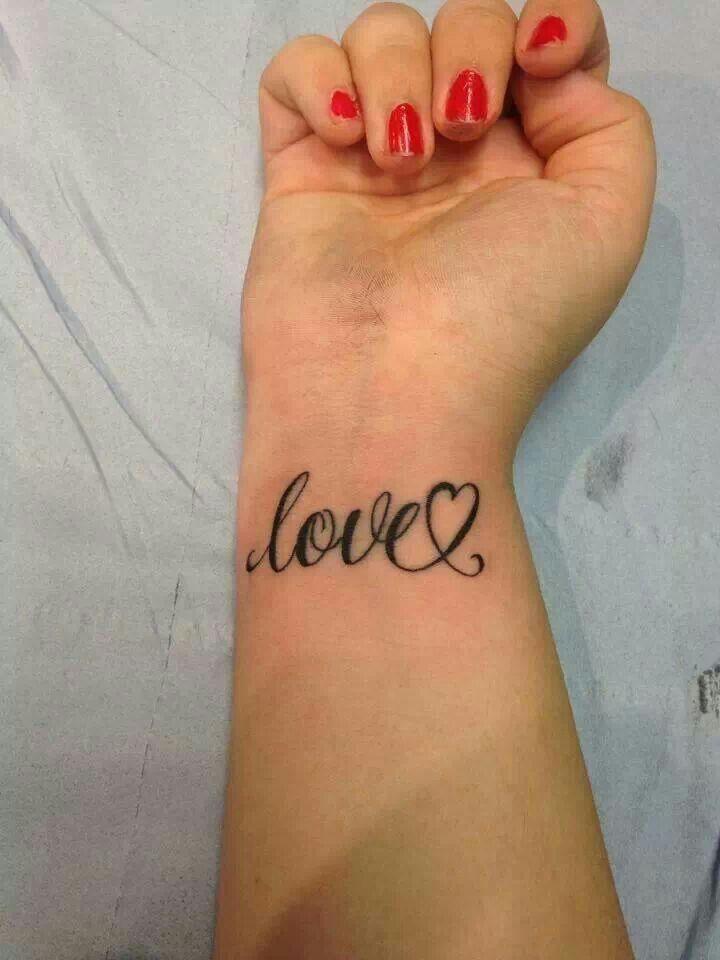Love tattoo ♥on lower back left side