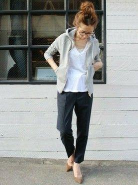 shop staff haru│FRAMeWORK Shirts  Looks - WEAR