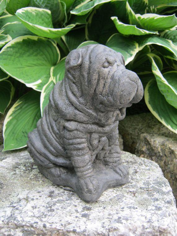 Shar-Pei Dog Statue - Garden Statues