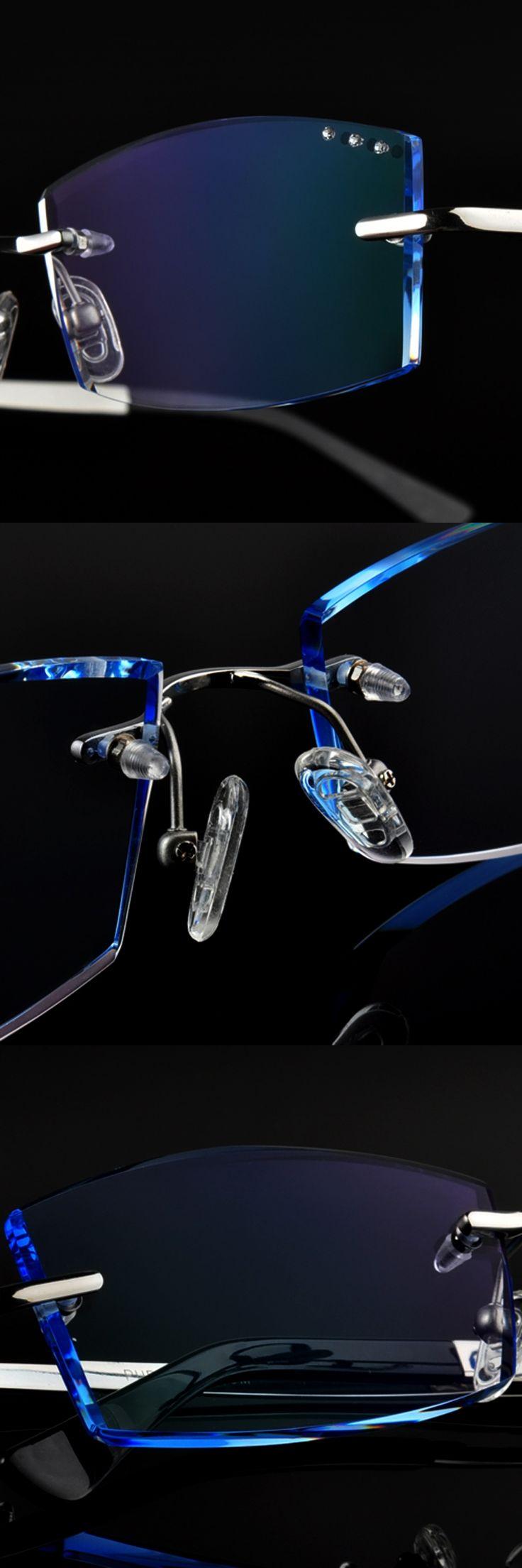 Men's fashion eyewear, trimming diamond titanium rimless glasses, ultra-light ultra-brake wear shatterproof, Eyeglasses 83
