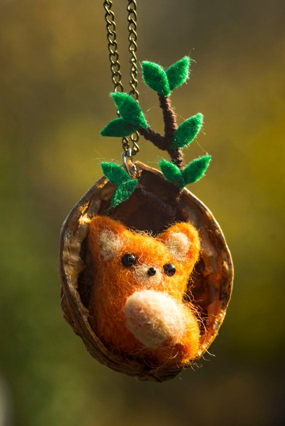 fox in nut by themimiclothingshop on Etsy