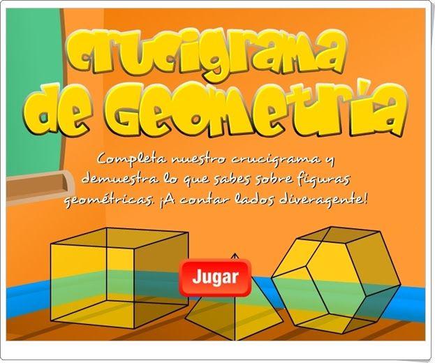 """""""Crucigrama de Geometría"""" (Juego de Verano de 5º y 6º de Primaria)"""