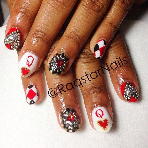 79 best las vegas casino nail art images on pinterest vegas las vegas glam prom nails prinsesfo Image collections