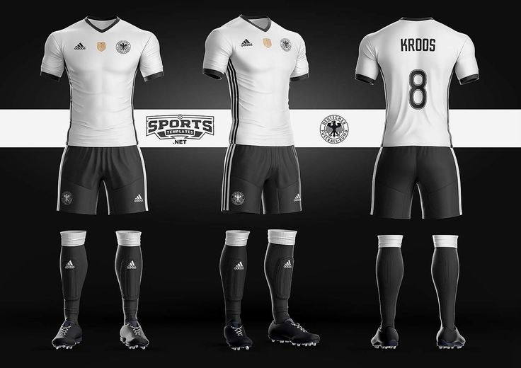 German Soccer Kit Uniform Template Adidas