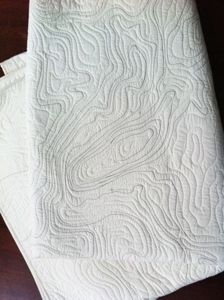 topographical quilt... really like this. hope no quilting experience required!