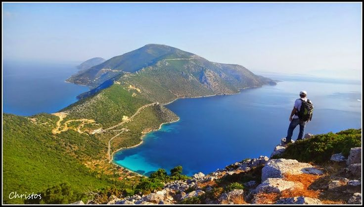 Ithaca, Homer's Odysseus homeland, a natural treasure in the Ionian Sea