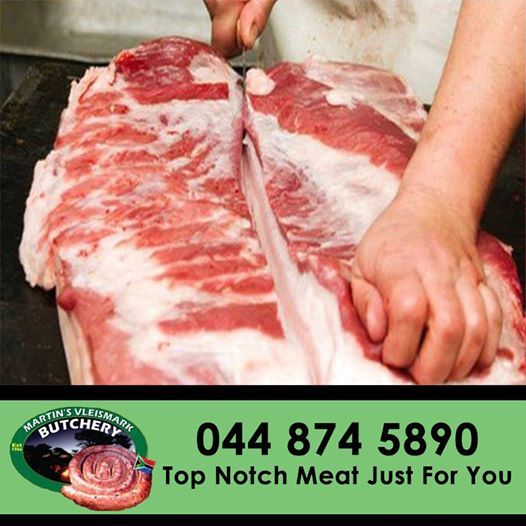 Need the perfect cut of meat for that special dish? At Martin's Vleismark, we are proud of our professional butchers that will cut that perfect piece of meat for you. #meat #butchery