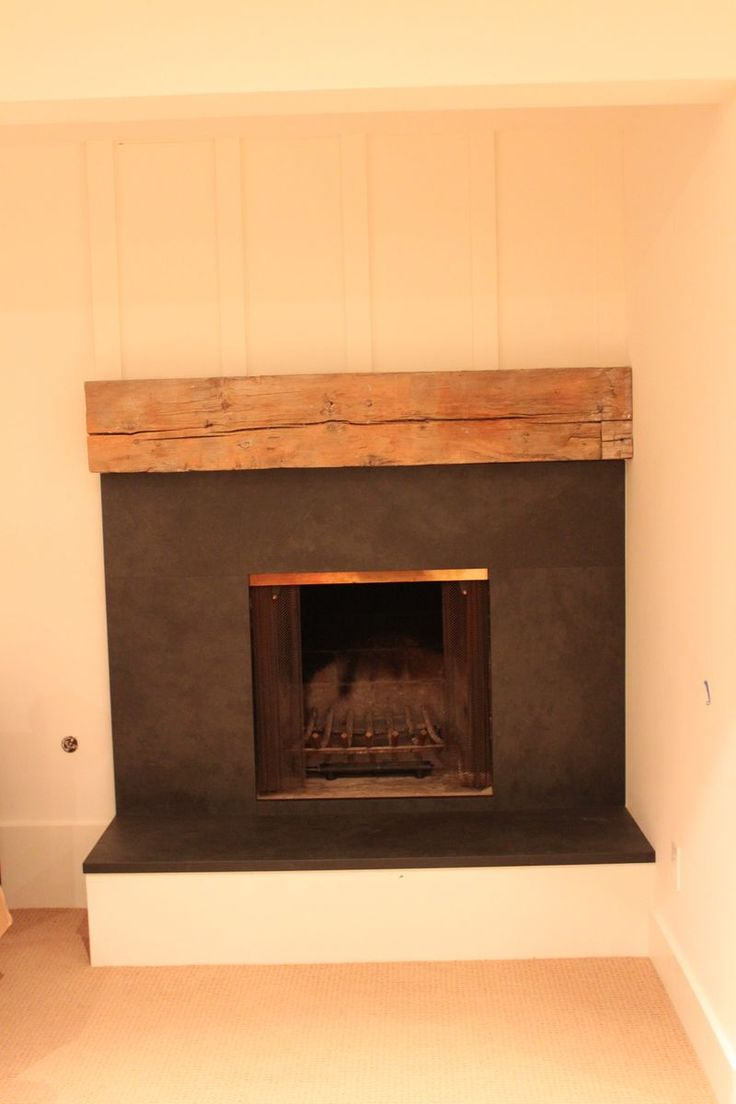 Redoing an old fireplace with slate slabs and reclaimed mantel