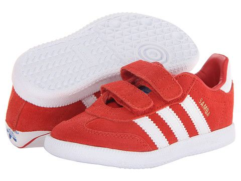 adidas Originals Kids Samba 2 (Toddler) Collegiate Red/White/Bluebird -  Zappos